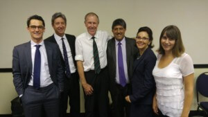 From left to right: Mr Adam Pike, Adv Mike van der Nest, Prof Tim Noakes, Adv Ravin Ramdass, Dr Janette Minnaar and Ms Alison Walker.